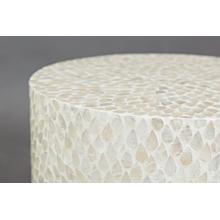 Global Archive Round Capiz Accent Table - Natural