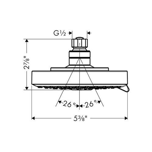 Brushed Nickel Showerhead 150 3-Jet, 2.5 GPM
