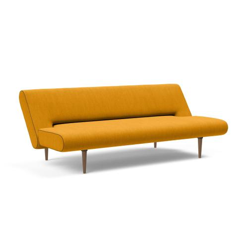 "UNFURL SOFA, DARK WOOD LEGS, 47""X79"""