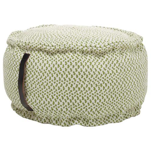 """Outdoor Pillow As220 Green 20"""" X 20"""" X 12"""" Pouf"""