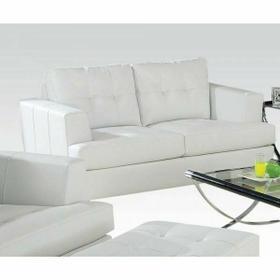 ACME Platinum Loveseat - 15096B - White Bonded Leather