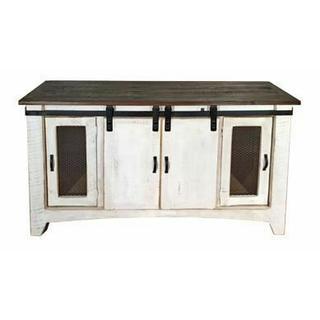 """See Details - 60"""" Ww/reclaim Barn Door Tv/buffet"""