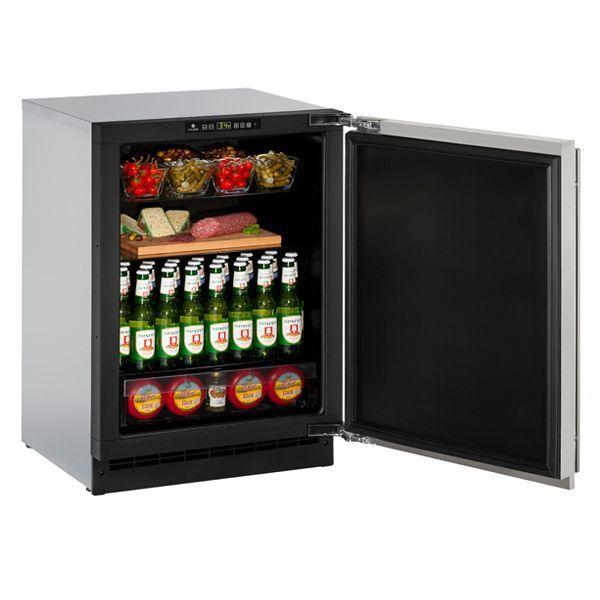 """U-Line2224r 24"""" Refrigerator With Stainless Solid Finish And Field Reversible Door Swing (115 V/60 Hz Volts /60 Hz Hz)"""