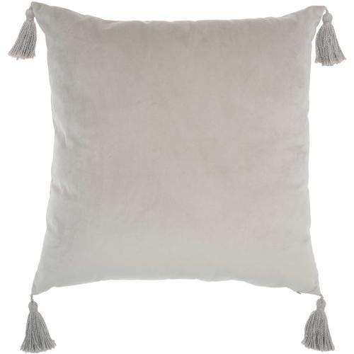 "Life Styles Et093 Lt Grey 20"" X 20"" Throw Pillow"