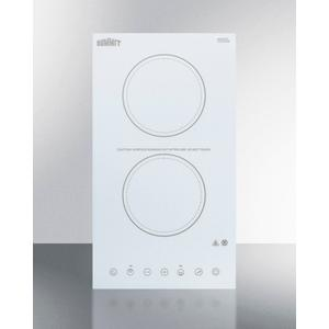 115v 2-burner Cooktop In White Ceramic Schott Glass With Digital Touch Controls, 2400w Product Image