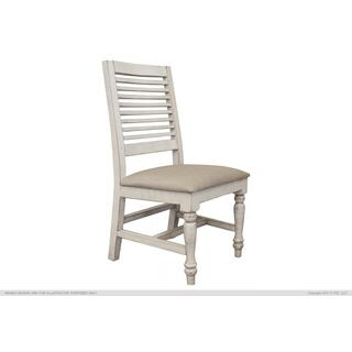 See Details - Chair w/ Turned Legs & Fabric Seat