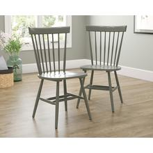 Farmhouse Spindle Chairs in Pewter Green