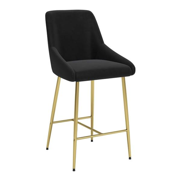 See Details - Madelaine Counter Chair Black