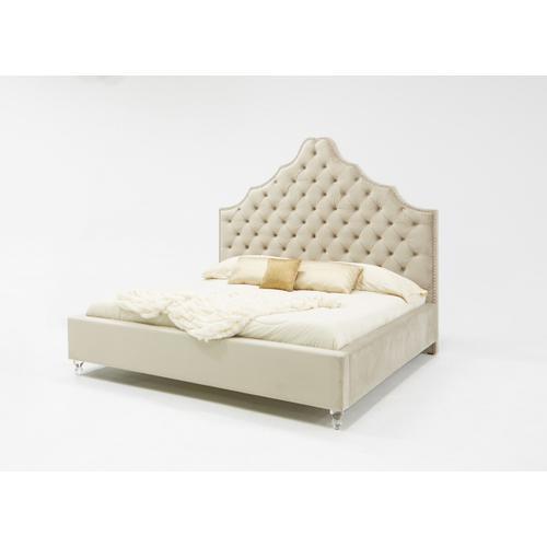 VIG Furniture - Modrest Sandra Transitional Light Grey Fabric Bed
