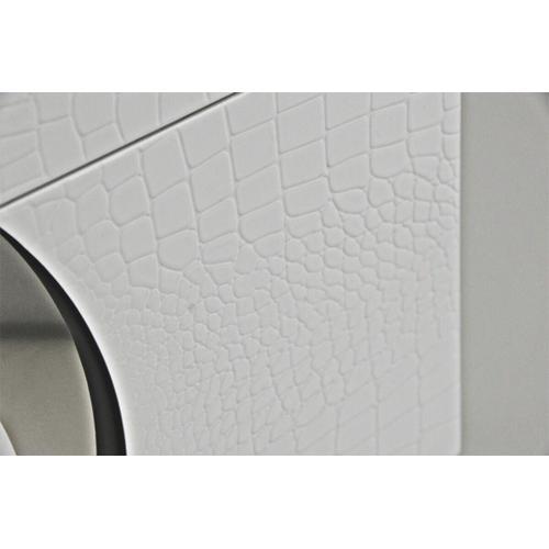 Gallery - A&X Ovidius - Modern White Crocodile Lacquer Nightstand