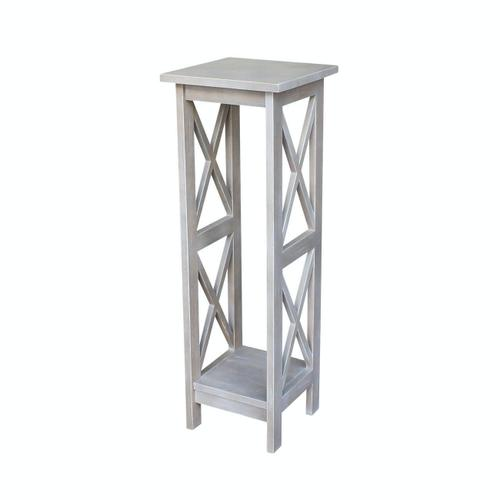36'' X Side Plant Stand in Taupe Gray