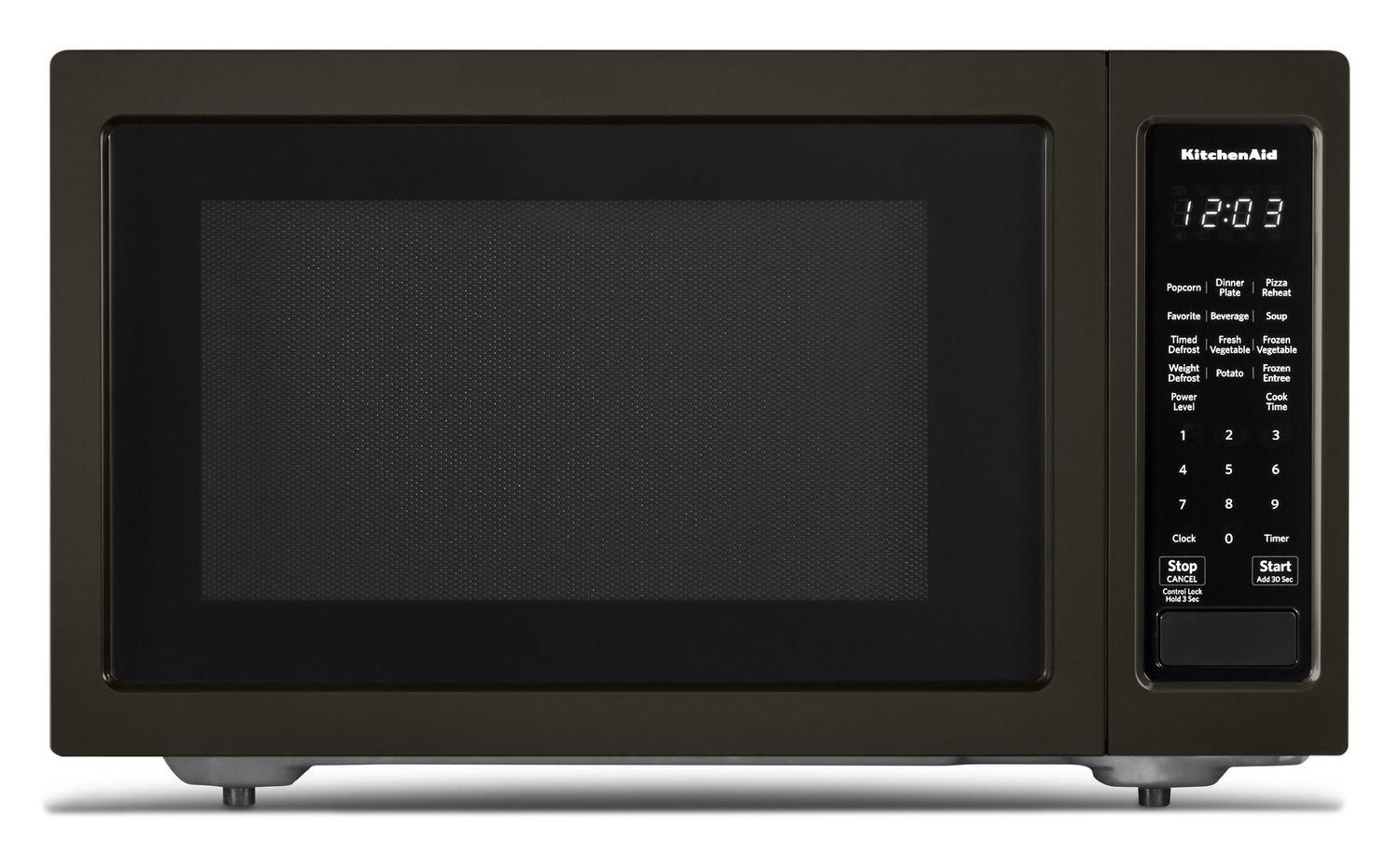 """21 3/4"""" Countertop Microwave Oven with PrintShield™ Finish - 1200 Watt Black Stainless Steel with PrintShield™ Finish"""