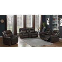 Sawyer Transitional Brown Three-piece Living Room Set