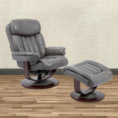 PRINCE - ICE Manual Reclining Swivel Chair and Ottoman