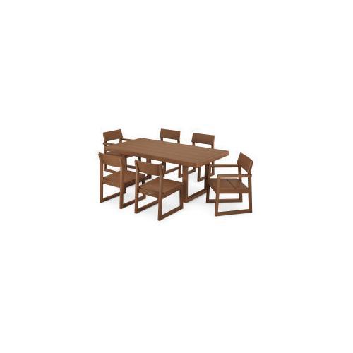 Polywood Furnishings - EDGE 7-Piece Dining Set in Teak