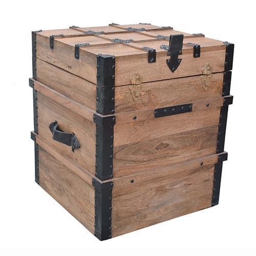 Storage Trunk - Burn Natural Finish