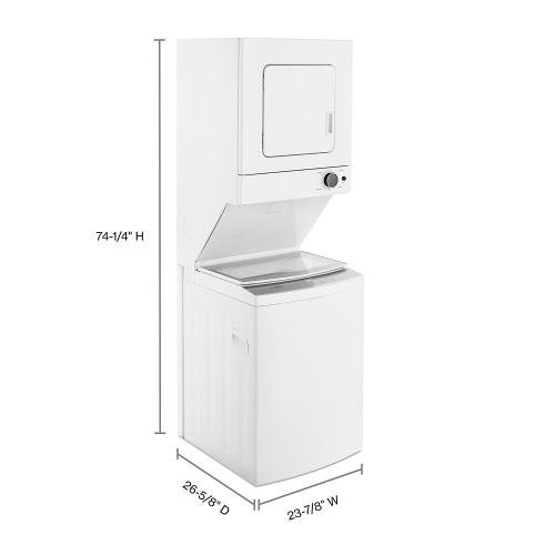 Whirlpool - 1.6 cu.ft Electric Stacked Laundry Center 6 Wash cycles and AutoDry™