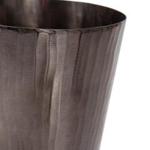 View Product - Carbon Gray Chiseled Aluminum Tapered Vase