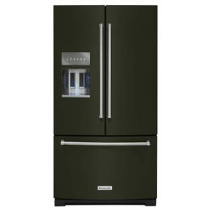 26.8 cu. ft. 36-Inch Width Standard Depth French Door Refrigerator with Exterior Ice and Water and PrintShield™ Finish - Black Stainless Steel with PrintShield™ Finish Product Image