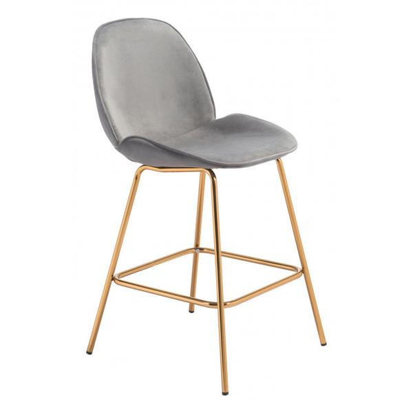 Siena Counter Chair Gray & Gold
