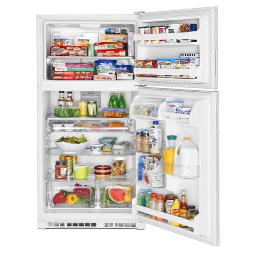 Maytag - 33-Inch Wide Top Freezer Refrigerator with PowerCold® Feature- 21 Cu. Ft.