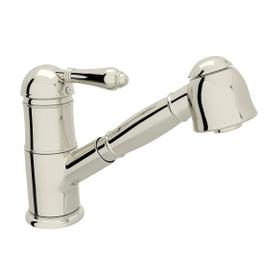 Patrizia Pullout Kitchen Faucet - Polished Nickel with Metal Lever Handle