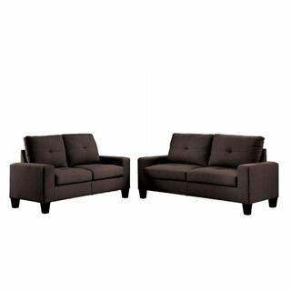 ACME Platinum II Sofa & Loveseat - 52730 - Chocolate Linen