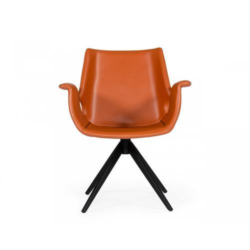 VIG Furniture - Modrest Hiawatha - Modern Cognac Eco-Leather Dining Chair