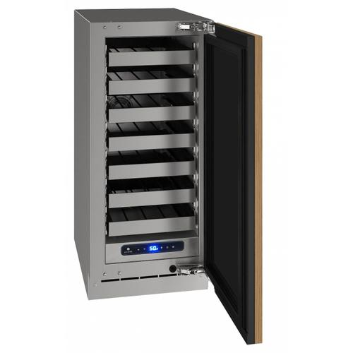 "Hwc515 15"" Wine Refrigerator With Integrated Solid Finish and Field Reversible Door Swing (115 V/60 Hz Volts /60 Hz Hz)"