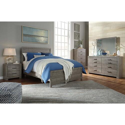 B070 5PC Set: Queen Panel Bed, Dresser, Mirror (Culverbach)