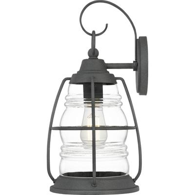 Admiral Outdoor Lantern in Mottled Black
