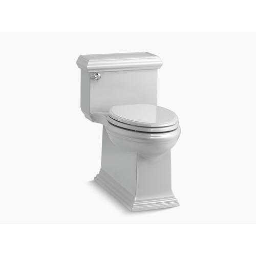 Ice Grey One-piece Compact Elongated 1.28 Gpf Chair Height Toilet With Slow Close Seat