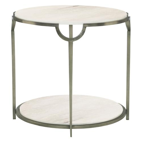Morello Round Metal End Table