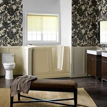 Luxury Series 30x51-inch Soaking Walk-In Tub  Right Drain  American Standard - Linen