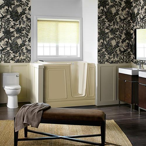 American Standard - Luxury Series 30x51-inch Soaking Walk-In Tub  Right Drain  American Standard - Linen