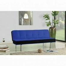 ACME Hailey Adjustable Sofa - 57136 - Blue & Black Flannel