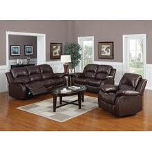 Kaden Bonded Leather Sofa and Loveseat Set