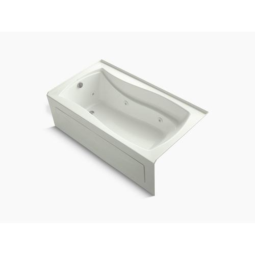 """Dune 66"""" X 36"""" Alcove Whirlpool Bath With Bask Heated Surface, Integral Apron, Integral Flange, and Left-hand Drain"""