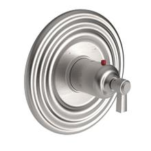 """Stainless Steel - PVD 3/4"""" Round Thermostatic Trim Plate with Handle"""