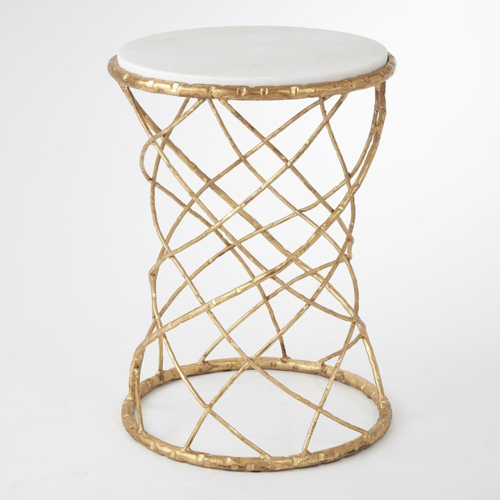 See Details - Tango Accent Table-Gold Leaf