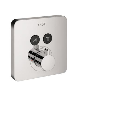 Chrome Thermostatic Trim SoftCube for 2 Functions