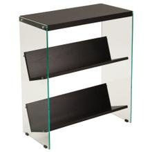 See Details - Espresso Finish Bookshelf with Glass Frame