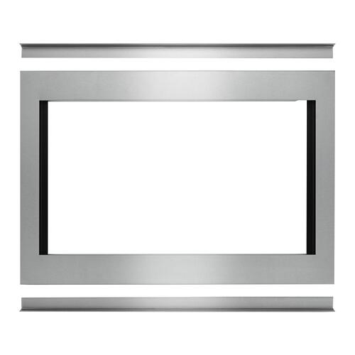"""Whirlpool - 30"""" Traditional Convection Microwave Trim Kit Stainless Steel"""