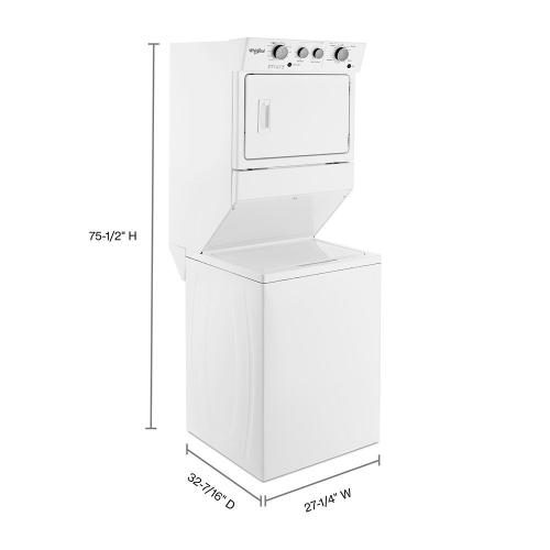 Gallery - 3.5 cu.ft Gas Stacked Laundry Center 9 Wash cycles and AutoDry™