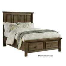 Queen Mansion Bed with Storage Footboard