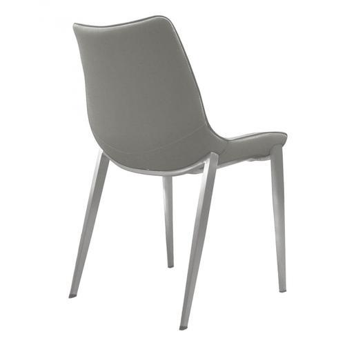 VIG Furniture - Modrest Frasier - Modern Grey Eco-Leather Dining Chair (Set of 2)