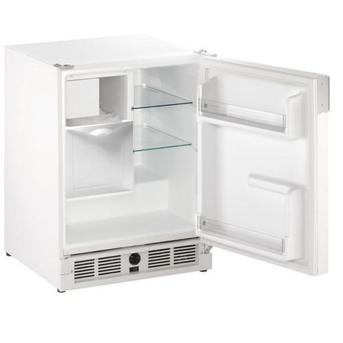 "U-Line - 21"" Refrigerator/ice Maker With White Solid Finish (115 V/60 Hz Volts /60 Hz Hz)"