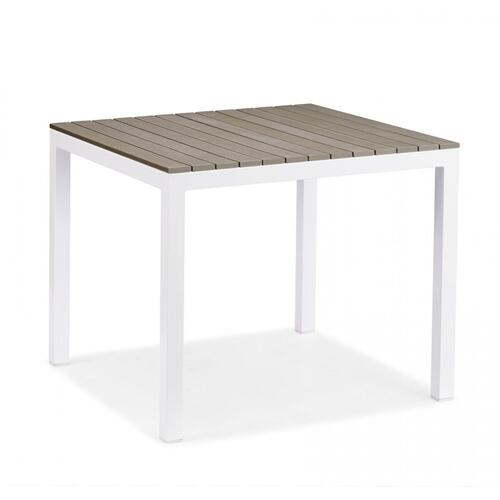 VIG Furniture - Renava Gulf Outdoor White & Grey Dining Table Set