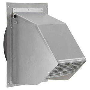 """Broan - Fresh Air Inlet Wall Cap for 6"""" Round Duct for Range Hoods and Bath Ventilation Fans"""