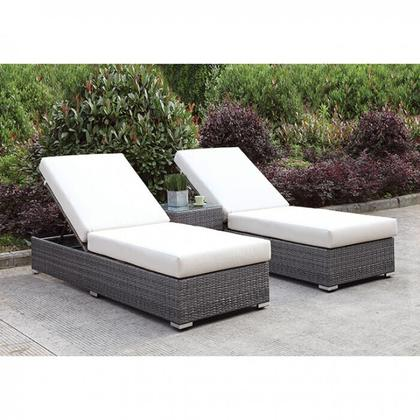 See Details - Somani 2 Adj Chaise + End Table